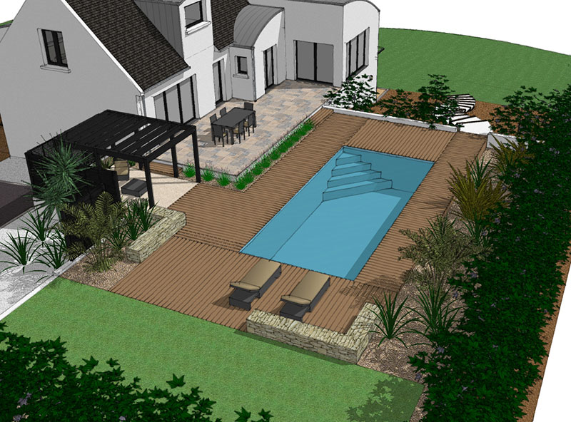 Am nagement des abords d une piscine guillerm fils for Amenagement de piscine